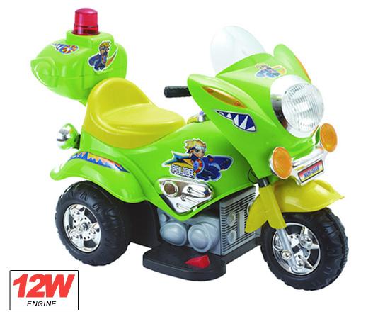 Детский трехколесный мотоцикл полиция