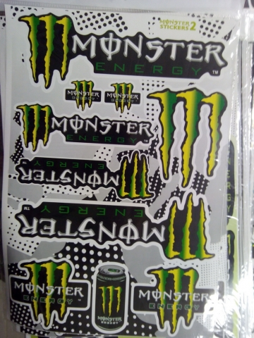 Наклейки на мотоцикл MONSTER ENERGY Taurine Grey