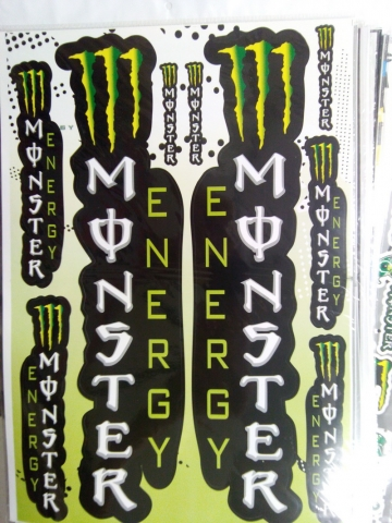 Наклейки на мотоцикл MONSTER ENERGY 7