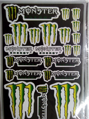Комплект наклеек на мотоцикл Monster Energy 8