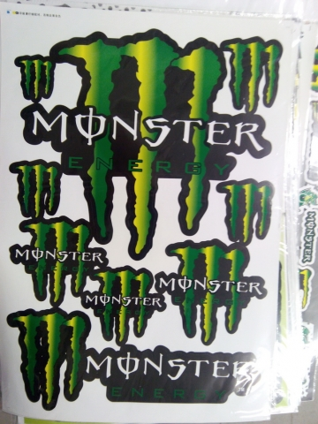 Наклейки на мотоцикл MONSTER ENERGY 5